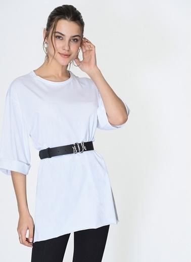 Loves You Loose Fit Duble Kol Supreme Bluz Beyaz